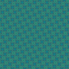 Blue and green abstract checked