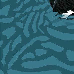 Black Swan - one yard panel