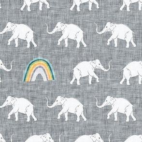 Rainbow Elephant (charcoal) MED