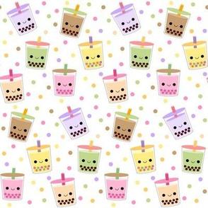 Happy Boba Bubble Tea White