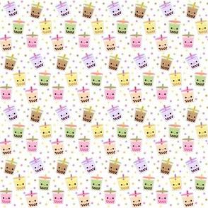 Happy Boba Bubble Tea White - Small