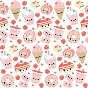 Happy Strawberry Desserts White