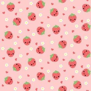 Happy Strawberries Pink