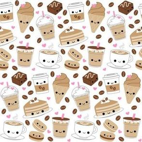 Happy Coffee and Desserts White