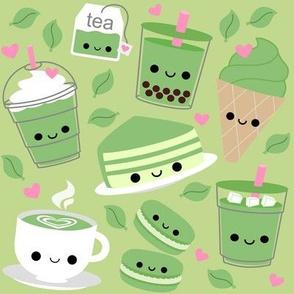 LARGE Happy Green Tea Matcha -  Light Green