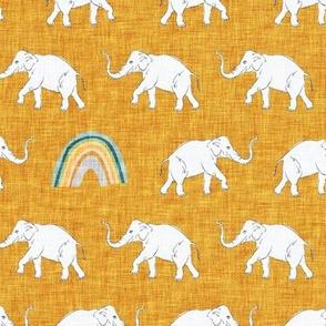 Rainbow Elephant (golden yellow) MED