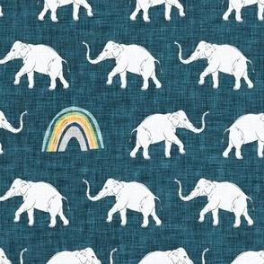 Rainbow Elephant (blue) MED