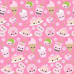 Happy Cherry Blossom Sakura Desserts Pink