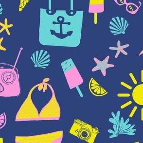 Bikini Happy Vibes Retro swim & fun