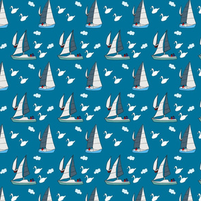 boats and birds