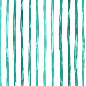 Freehand Lines in Turquoise Vertical