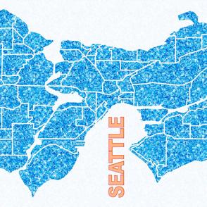 Seattle Map Wallpaper Art Print