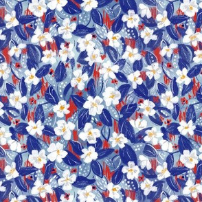 Red, White, & Blue Fun Floral