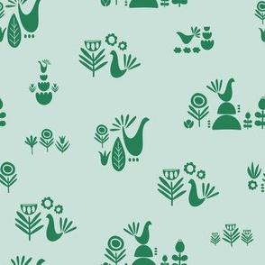 Scandi Garden Green