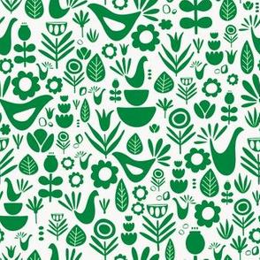 Scandi Folk Dark Green