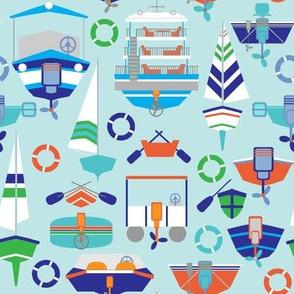 Floaty Boat Hulls, blue, small