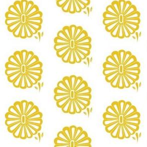 Mod flower in yellow