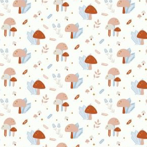 Fall crystal mushrooms