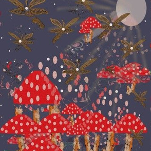 Mythical Forest Midnight Magic Mushrooms