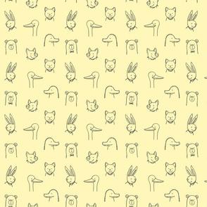 Happy Animals-Quartre-Yellow