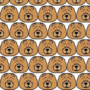 Squishy Chow Chow faces - Chow breed fabric