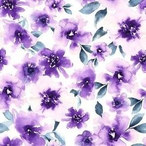 Small Purple Watercolor Floral