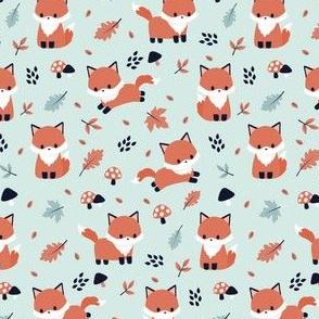 Fox in Autumn Mint
