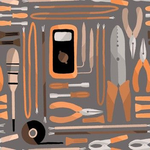 Electrical tools (orange and gray)