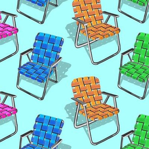 Lawn Chairs Turquoise