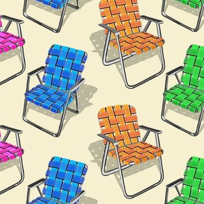 Lawn Chairs Sand