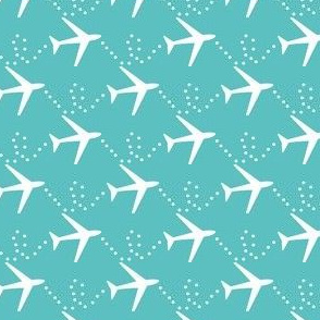 Aviation theme fabric - airplanes, jets