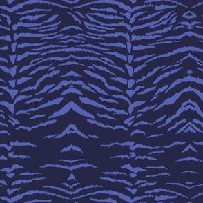 Blue Tiger Print