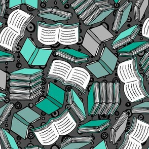 So Many Books... (Teal)