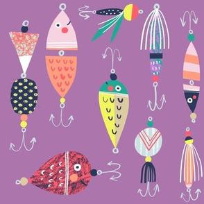 Fishing Lures - violet