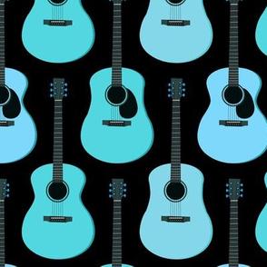Blue Acoustic Guitars - Black
