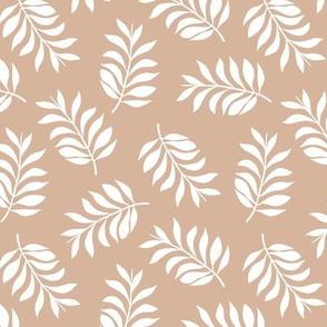 Jungle Leaves sweet botanical scandinavian style trend nature garden boho nursery latte white