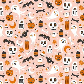 Halloween Haunting - Blush Pink Small Scale