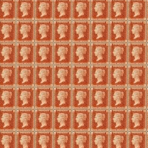 1850 British Penny Red stamp