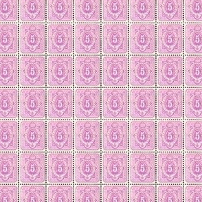 1875 German 5 pfennige lavender postage stamp