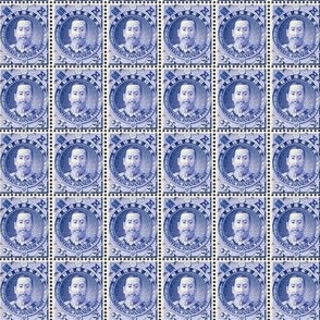 1896 Japanese Akihito Arisugawa 5 sen blue postage stamp sheet