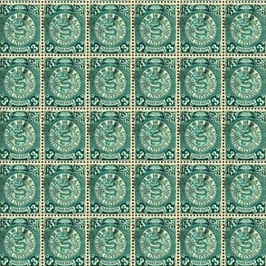 1898 Chinese Imperial Post 3-cent green postage stamp