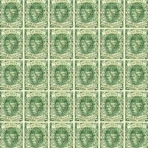 1851 Saxony 3 Pfennige green postage stamp