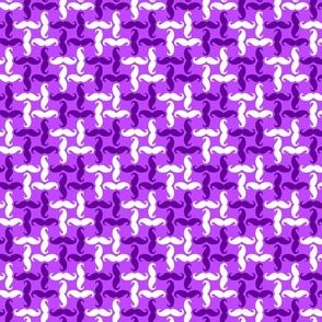 small mustache tweed - purple and white on light purple