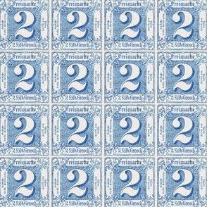 1864 Thurn und Taxis German Imperial postage stamp, 2 kreuzer, blue