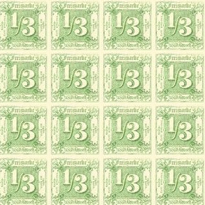 1866 Thurn und Taxis German Imperial postage stamp, 1/3 kreuzer, green