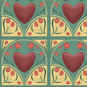 Trust your heart - Art nouveau