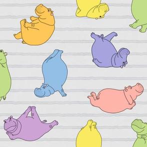 Hippo Workout 'pastel rainbow'