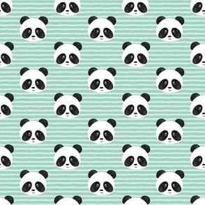 """(1"""" scale) pandas on mint stripes - LAD20BS"""