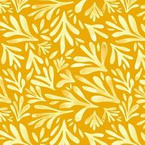 Watercolor Leaves (Yellow)