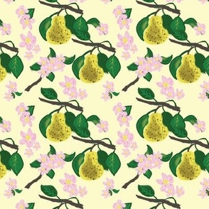 Delicious Pears and Blooms